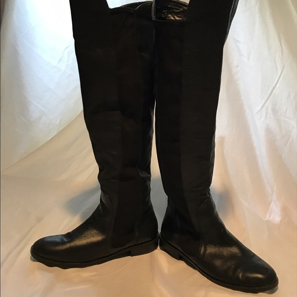 55 report shoes report leather knee high