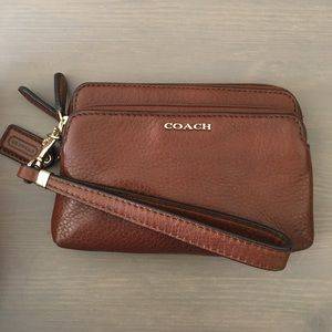 Coach Handbags - Coach NWOT Madison Double Zip Wristlet in Chestnut