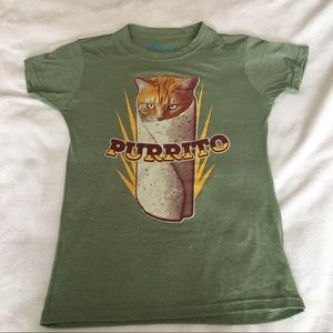 Tops - Purrito Cat Tee