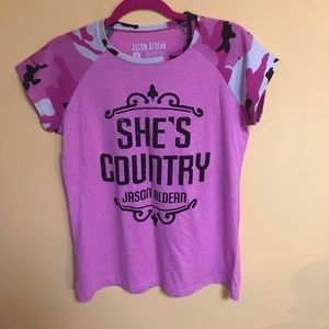 Iconic Legend Tops - Pink Camo Official Jason Aldean Shirt
