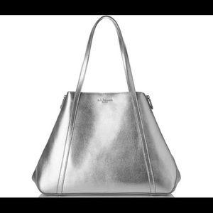 LK Bennett Handbags - NWOT LK Bennett silver large Kelly tote bag