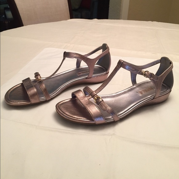 50e1a1a487d7c6 Ecco Shoes - Ecco Light Gold   Pewter Sandal