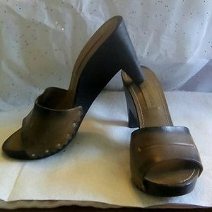 Costume National Shoes - Costume National Leather Heeled Sandals. Size 5