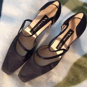 Nina Shoes - Navy Nina fabric shoes