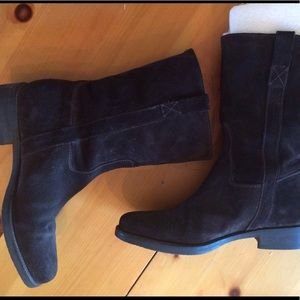 J. Crew Shoes - J. Crew short leather and suede Brewster boots