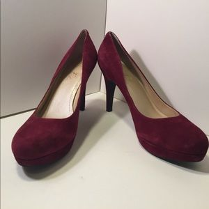 Marc Fisher Shoes - Marc Fisher 'Sydney' Burgundy suede leather heels