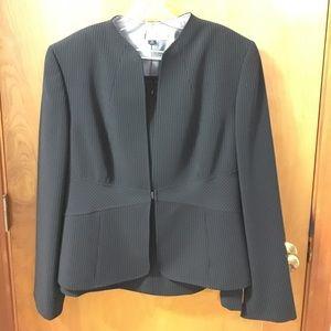 Tahari Other - 3 piece black & white pinstripe skirt suit
