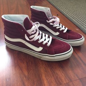 Burgundy high top vans