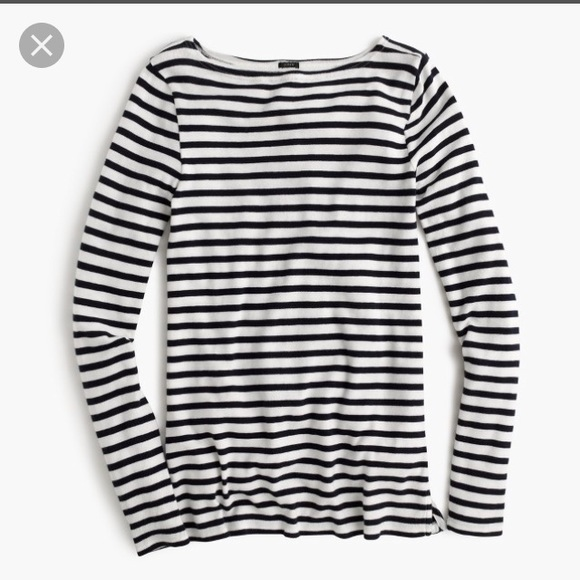 65 Off J Crew Tops J Crew Striped Boatneck Tunic In