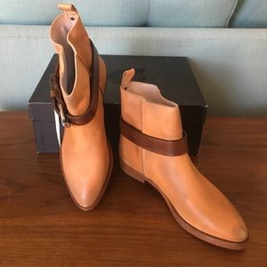 HTC Shoes - HTC (Calyspo St. Bart) Brown Leather Buckle Boots