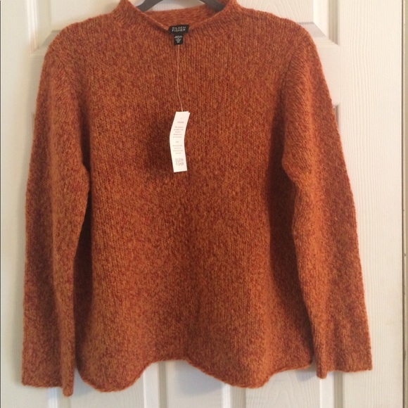 Eileen Fisher Sweaters Sale Burnt Orange Cocoon Sweater Poshmark