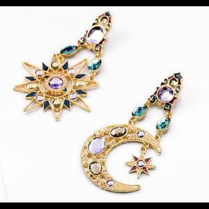 🆕 Lyla & Bo TIBETIAN MOON AND STAR EARRINGS