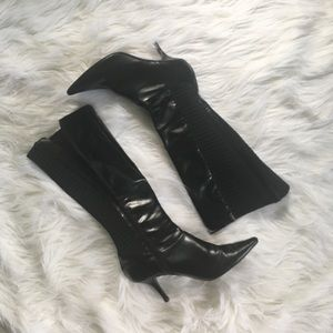 Like New Calvin Klein Black Leather Boots