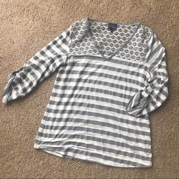 Stitch Fix Market & Spruce Lace Knit Top