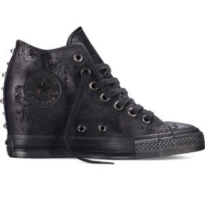 Converse Shoes - Converse All Star Luxe Wedge Sneakers With Studs