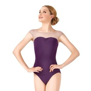 Natalie Dancewear Other - Beautiful Plum & Nude Mesh Leotard