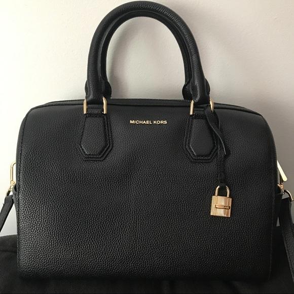 Michael Kors Bags   Price Firmchael Kors Black Mercer Duffle   Poshmark aefc018bba