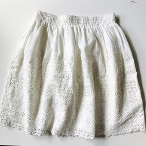 Anthropologie Eyelet Skirt