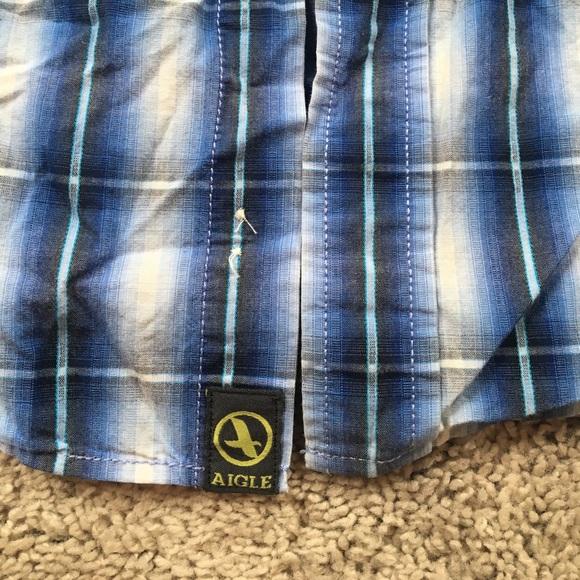 Aigle Aigle Lon Sleeve Button Up 100 Organic Cotton Lg