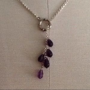 Jewelry - Adjustable Sterling Silver and amethyst necklace