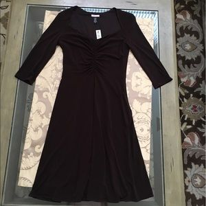 Jane Street Brown Sweetheart Neckline Dress, Sz 6