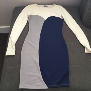 Asos fitted long sleeve dress
