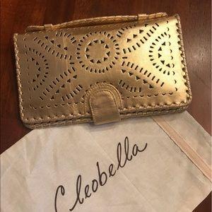 Cleobella Handbags - Cleobella Clutch Wallet Gold