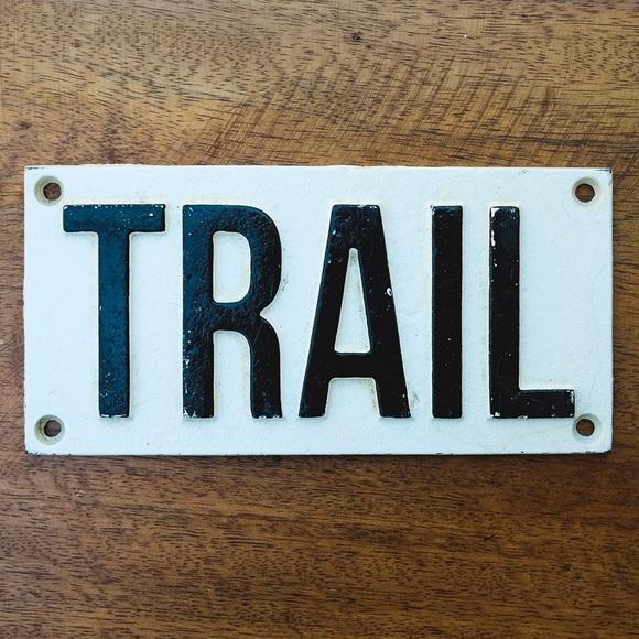Cast Iron Trail Sign - Anthropologie Terrain
