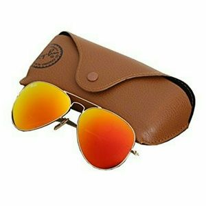 Ray-Ban Accessories - Ray-Ban Aviator Sungkasses Gold Orange Flash Lens