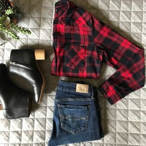 JustFab Tops - • JUST FAB flannel •