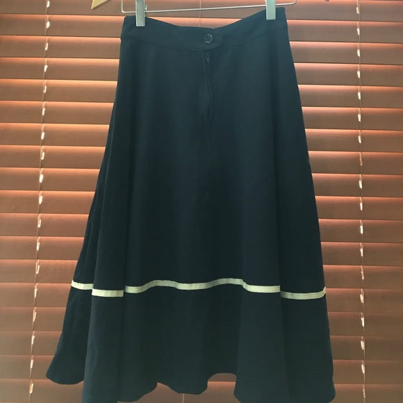 75 rock steady dresses skirts navy blue high