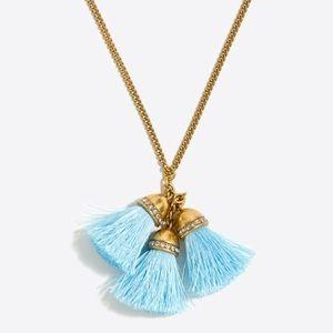 J. Crew Jewelry - J. Crew multi tassel necklace light blue