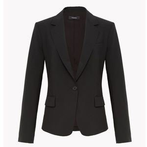 • Theory Gabe black wool stretch blazer size 4 •