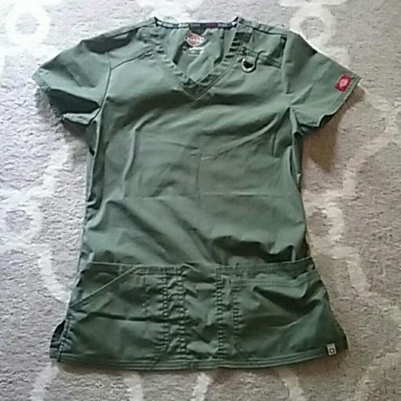 f198521b07f Dickies Tops   Olive Colored Stretch Scrub Top   Poshmark