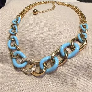 Kate Spade 'Chain of Events' Blue gold necklace