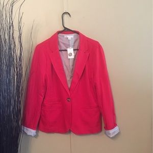 Cato Jackets & Blazers - Bright red Blazer with line sleeve cuff option
