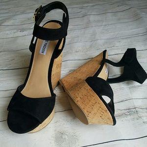 Steve Madden Shoes - LIKE NEW Steve Madden faux suede platform wedge