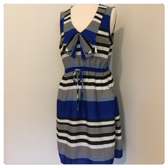 Maurices Dresses & Skirts - Maurices Sailor Style Ruffle Peplum Dress Size L