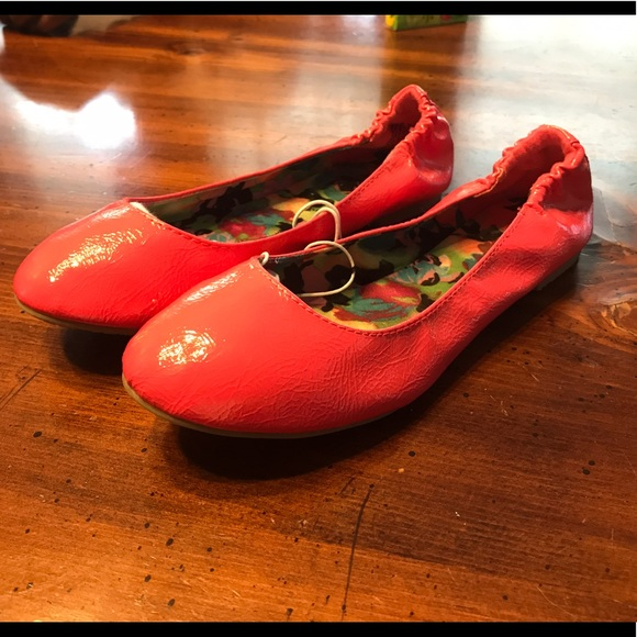 75 so shoes bright pink ballerina flats