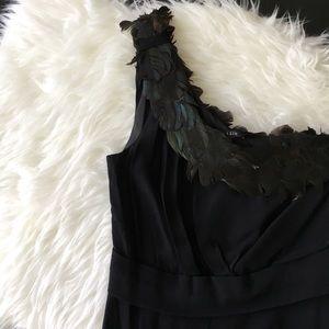 Black Halo Dresses & Skirts - Black Halo Helena One-Shoulder Feather Dress