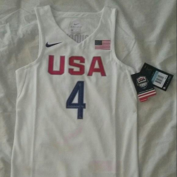 quality design e6265 53171 Nike Team USA Stephen Curry Boys Jersey NWT