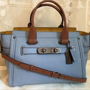 Coach Swagger Large Leather Satchel