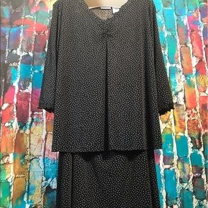 Jaclyn Smith Tops - Jaclyn smith silky blouse and skirt set