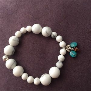 Jewelry - Howlite Bracelet with Charms
