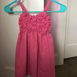 Pink smocked little girls dress - brand new