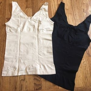 Yummie by Heather Thomson Other - Yummie Tummie lot of 2 seamless tanks BLACK/NUDE