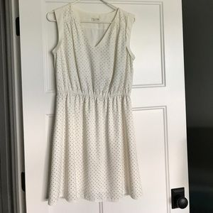 Studded white dress
