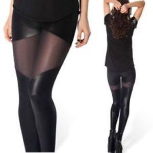 Blackmilk Pants - Black Milk size M part sheer leggings