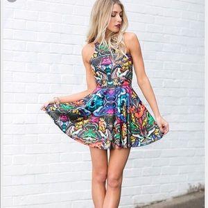 Blackmilk Dresses & Skirts - 💥FLASH SALE black Milk Hyper moth scoop dress