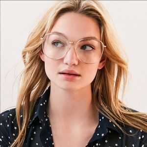 Oversized Gold Eyeglasses Frame